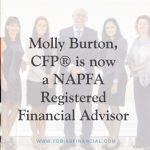 Molly Burton, CFP® is now a NAPFA Registered Financial Advisor