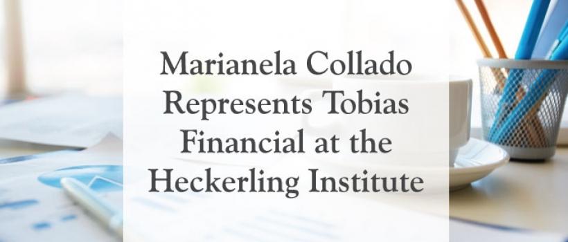 Marianela Collado Represents Tobias Financial at the Heckerling Institute
