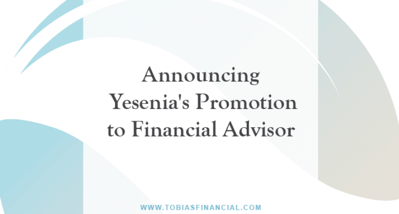 Announcing Yesenia's Promotion to Financial Advisor